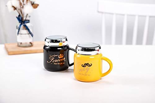 Juego De Tazas 2 Tazas Taza De Cerámica Nuevo Color Glaseado Espejo De Dibujos Animados Taza De Pareja Taza De Agua Taza De Café Taza De Leche Taza De Desayuno Regalo Lindo Tazas Personalizadas Origin