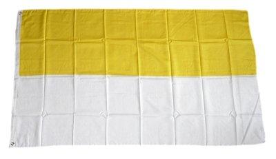 Fahne / Flagge gelb / weiß Kirchenflagge 150 x 250 cm
