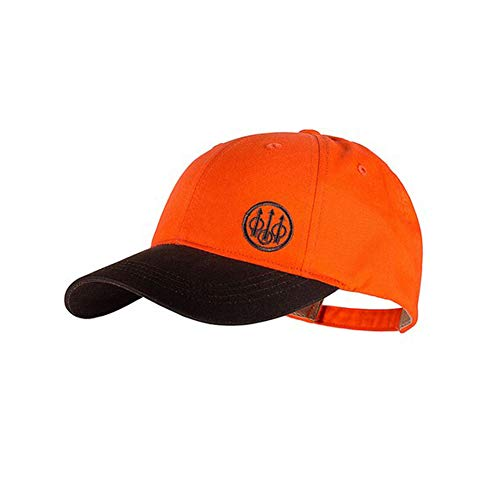 Beretta Men's Trident Upland Hunting with Waxed Cotton Bill Tabacco/Blaze Orange Hat