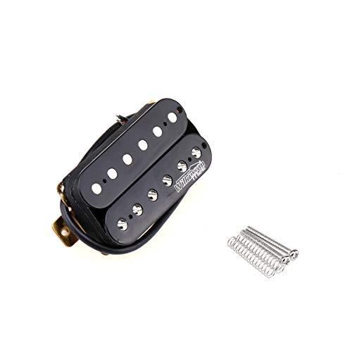 Wilkinson Vintage Tone Alnico 5 Overwound Open Style Humbucker Pickup Steg Tonabnehmer für E-Gitarre, Schwarz