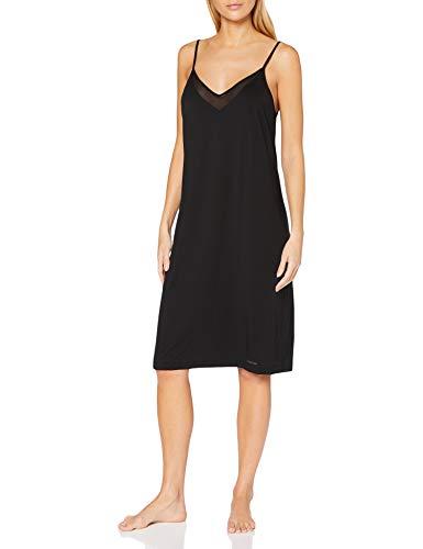 Calvin Klein Women's Chemise Pajama Set, Black, S