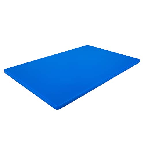 Professional Plastic Blue Cutting Board, HDPE Poly for Restaurants,...