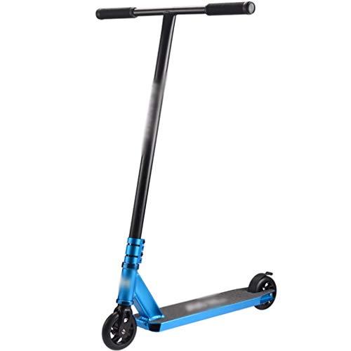 Patinete Patinete De Acrobacia Scooter De Transporte del Campus, Patinete De Atletismo De Lujo, Scooter Profesional De Verano para Hombre, Cargar 100 Kg (Color : Blue, Size : 59 * 55 * 93cm)