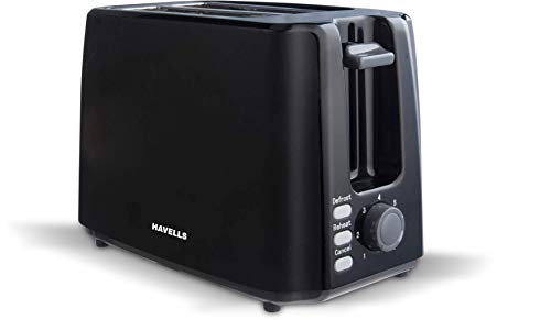 Havells Crisp Plus 750-Watt Pop-up Toaster (Black)