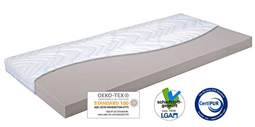 GUT-GEBETTET Topper Matratzenauflage 180x200 x9cm, Amicor® Doppeltuchbezug, weiche Kaltschaum Auflage für optimales Schlaferlebnis, Allergikergeeignet, Schadstoffgeprüft Öko-Tex100, Nicht vakuumiert