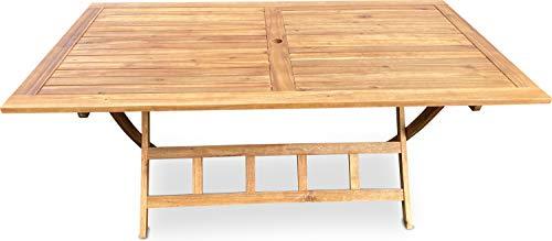 GRASEKAMP Qualität seit 1972 Gartentisch Belmonte 160x90cm Akazie Natur Klapptisch Balkontisch