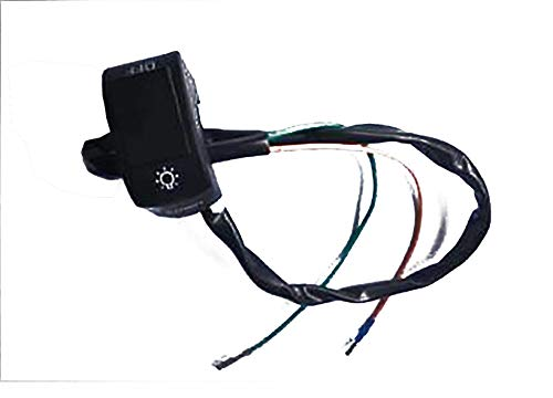 ZXLLNEUR Motorcycle stuur gemonteerde schakelaar knop for LED koplampen U5 U7 U2 LED koplampen Scooter Electric Car (Color : Black)