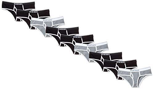 Diesel Damen Unterhose UFPN-OXY-THREEPACK (3er Pack), Mehrfarbig (Black/Black/Dark Grey Melange E4372-0Eauf), 34 (Herstellergröße: Small)