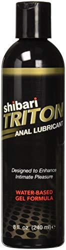 Shibari Triton Anal Lubricant, Premium Water-Based Gel Formula, Quality Anal Lube, 8 Fluid Oz