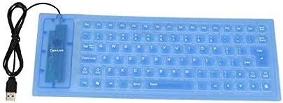 RONSHIN Tastatur Leise  wasserdicht  staubdicht  tragbar  aus Silikon  staubdicht  f r Laptop