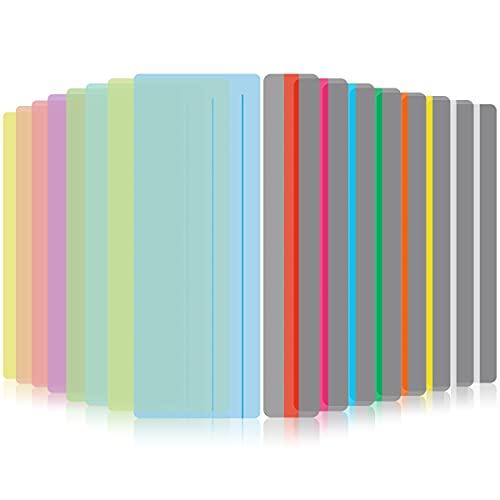 Xiangmall 16 Pezzi Strisce di Lettura Guidata Copertine Colorate Righello da Lettura Segnalibro per Dislessia ADHD Bambini Insegnanti Materiale Scolastico (Colorato)