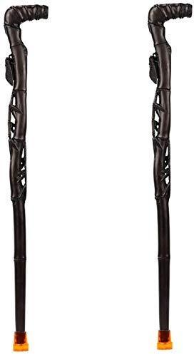 ATLT Bastones para personas mayores Bastones para caminar Bastones de madera Productos antiguos Mangos en T 3 modelos Longitud 93 cm (36,61 pulgadas) Fácil de cortar,C,zwei