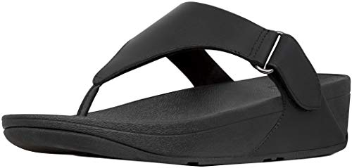 FitFlop New Women's Sarna Thong Sandal All Black 8