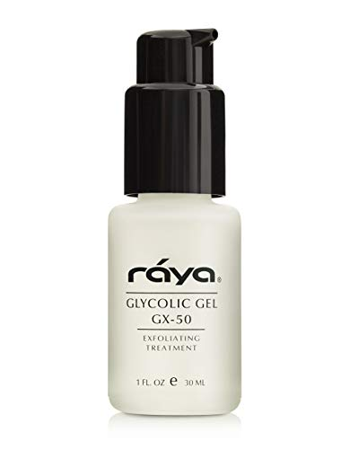 RAYA Glycolic Gel GX-50 with AHA (G-330) | Oil-Free Exfoliating Facial Gel for Oily and Break-Out Skin | Reduces Oiliness, Clears Up Blemishes, and Reduces Fine Lines | Made with Alpha Hydroxy Acids