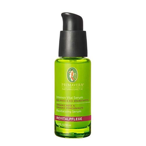 PRIMAVERA Revitalpflege Intensiv Vital Serum Rose Granatapfel 30 ml - Naturkosmetik - straffend und vitalisierend für reife Haut - vegan -