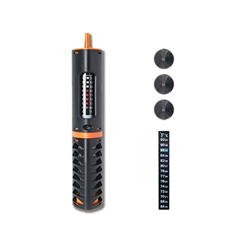 HITOP Adjustable Submersible Aquarium Heater, 30W 50W 120W Fish Tank Heater for 5-30 Gallon (50W for 5-10 Gallon)