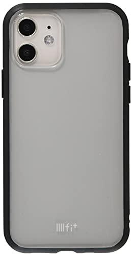 グルマンディーズ IIIIfit(clear) iPhone12/12 Pro(6.1インチ)対応ケース ブラック IFT-73BK