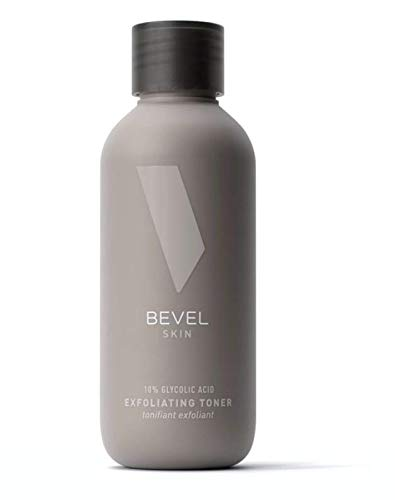 Exfoliating Toner for Face by Bevel - 10% Glycolic Acid Toner with Green Tea and Lavender, Helps Avoid Ingrown Hairs, Razor Bumps and Uneven Skin Tone, 4 fl oz.