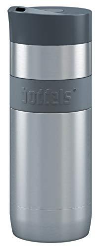 Thermobecher KOFFJE 370ml - Kaffeebecher to go, Isolierbecher, Edelstahl doppelwandig isoliert, 100% dicht, Travel mug, Premium Reisebecher, auslaufsicher, Kaffee-to-go, BPA-frei, Easy-Clean-Deckel