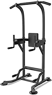 ZJETVO Multifunctional Exercise Equipment, Dip Stands Power Tower Dip Station Pull Up Bar for Home Gym Strength Training W...