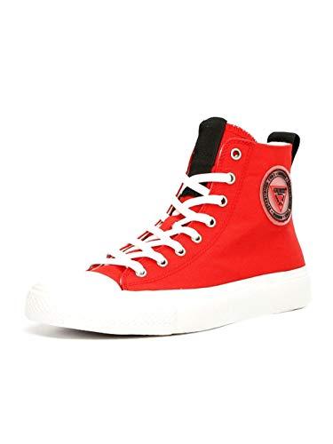 Guess Zapatillas altas para mujer de tela de lona, color rojo, cód. FL5ERHFAB12 Red Rojo Size: 39 EU
