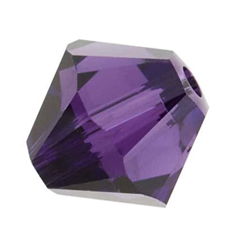 100pcs Adabele Austrian 3mm (0.12 Inch) Small Bicone Crystal Beads Purple Velvet Compatible with Swarovski Crystals Preciosa 5301/5328 SSB327