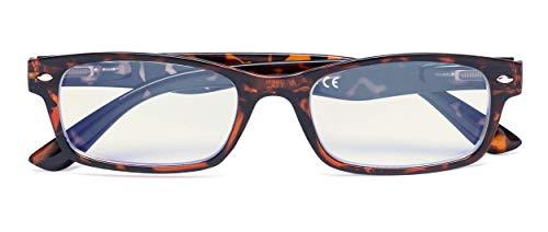 Blue Light Filter Eyeglasses,Reduce Eyestrain Readers,Anti Blue Rays,UV Protection,Computer Reading Glasses for Men Women(DEMI) +2.25