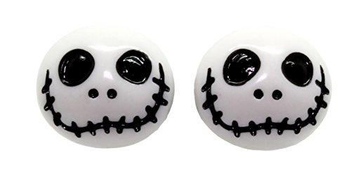 Bluebubble FRIGHT NIGHT Jack Skeleton Stud Earrings With FREE Gift Box