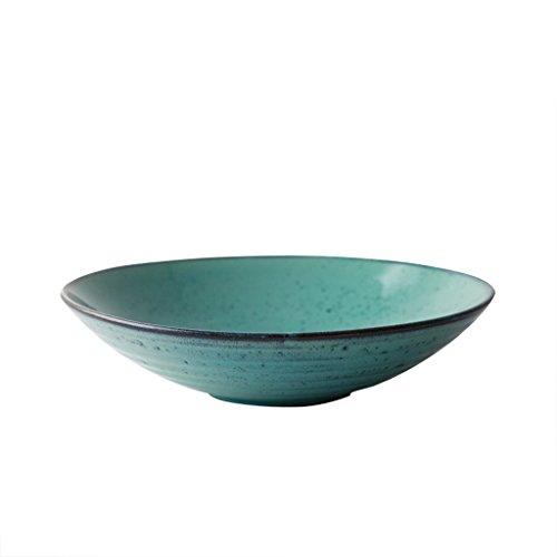 JUNYYANG Hogar Retro cerámica vidriada Ensaladera Creativo Vajilla Tazón Ramen Soup Bowl
