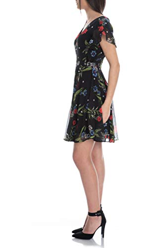 Guess Damen Vera Dress Kleid, Mehrfarbig (Casual Dots and Flow P98t), Small