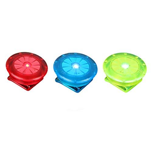 LIOOBO LED Sicherheitslicht Clip für Läufer Hunde Fahrräder Kinderwagen 3 Stück (Rot Blau und Grün)