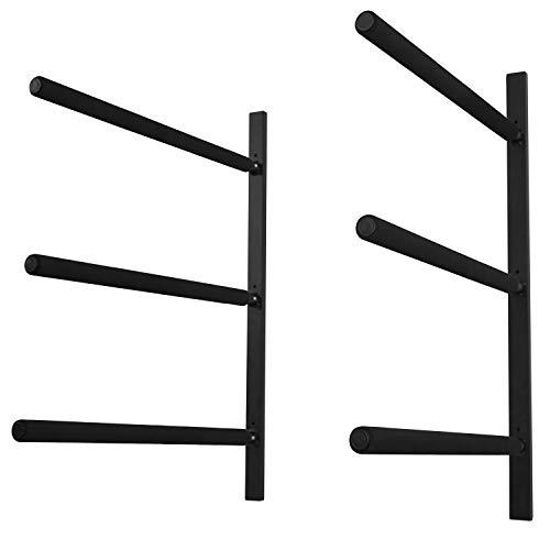 Yes4All Heavy Duty Steel Wall Mount Paddle Board Racks, Surfboard Hanger with Padded Foam, Store &...