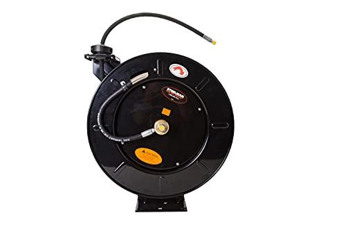 STEELMAN 96838 High-Pressure Oil and Grease Enclosed Spring Hose Reel...