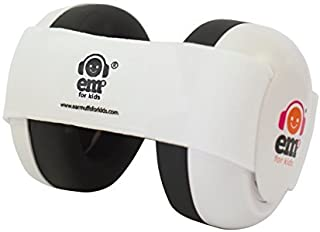Ems for Kids Baby Earmuffs - White with White. Made in The U.S.A! The Original and ONLY Earmuffs Designed specifically for Babies Since 2009!