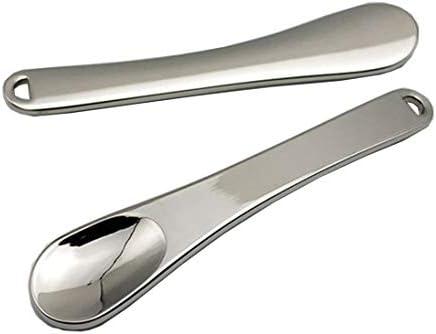 2Pcs Mini Metal Cosmetic Spatulas Facial Cream Mask Spoon Stick Mixing Spatulas Makeup Scoop product image
