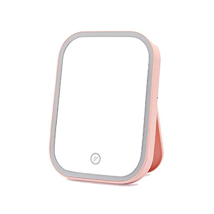 引くテロ有名センテニアル 化粧鏡 デスクトップledライト (ピンク) [並行輸入品]