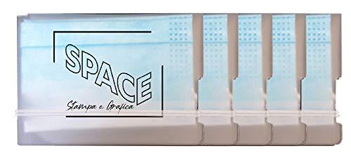 Space Custodie Universali Tascabili Per Mascherine 5 pezzi lavabili igienizzabili riutilizzabili (Original)