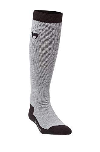 APU KUNTUR Alpaka SKI-SOCKEN Damen Herren Stutzen Sport Knie-Str�mpfe Jagd-Socke schwarz-grau 42-44