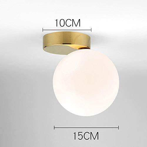 Wandlamp binnen Moderne ultra-eenvoudige glazen wandlamp doorgang gang slaapkamer bedlampje AC85-265V melkwitte bol glas bol lampenkap