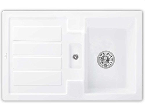 Villeroy & Boch Flavia 45 Snow White Weiß Küchenspüle Auflage Keramik-Spüle