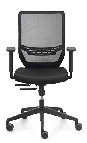 Dauphin Schreibtischstuhl Trend Office Valo sync2 mesh VO 9242 Bürodrehstuhl, Bürostuhl, Schwarz, Flexibel, formschön, Neues Modell
