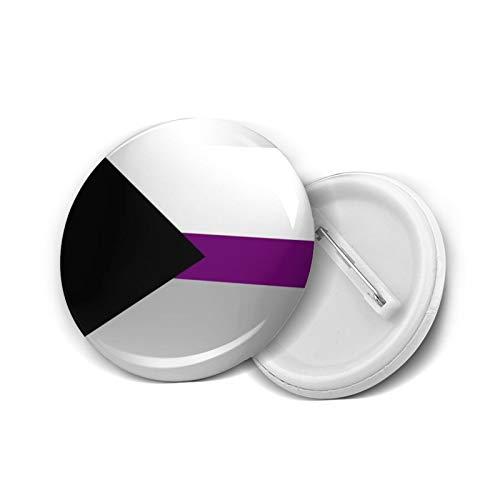 Insignia redonda DIY Botones Agender Demisexual Bandera Personalizada Bufanda Cabo Moda Titular Mini Broches Pin Insignias Prendas Botones Ropa Pines 4.5 cm