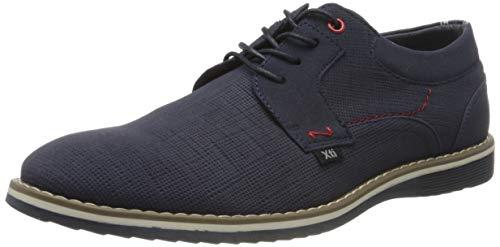 XTI 49690, Zapatos de Cordones Oxford para Hombre, Azul (Navy Navy), 42 EU