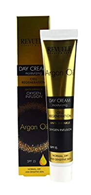 Argan Oil DAY CREAM 50ml - Normal, Dry and Sensitive Skin | Anti-Wrinkle Moisturising Cream. Cell Regeneration, Oxygen Infusion. SPF15