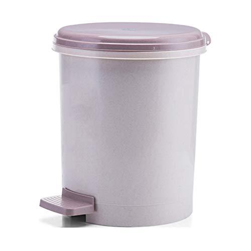 Papeleras Cubo de Basura de Cocina for el hogar Pedal Redondo de Gran Capacidad con cubeta de Almacenamiento de Tapa (12L) Hermosa y Duradera (Color : Brass)