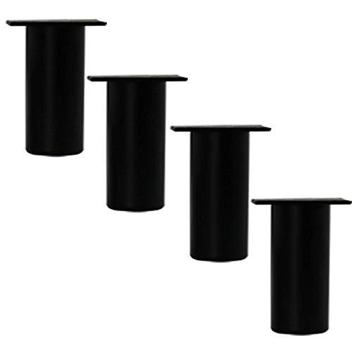 TCWDX Paquete de 4 Patas de aleación de Aluminio para Muebles, Patas de Metal para Bricolaje, Patas de Mesa de Centro Redondas de Altura Ajustable, para Patas de sofá, Patas de Soporte de gabinete