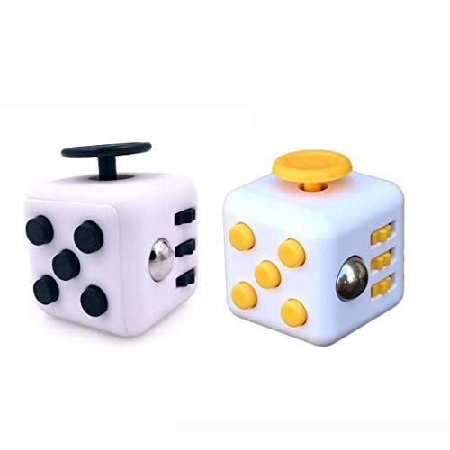 Juguete Cubo FidgetToys mágico,cube Anti-ansiedad Anti-Stress Cube FidgetToy para niños,Adolescentes y Adultos Stress Reliever (Pack de 2)