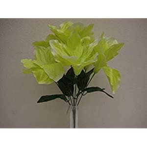 Green Amaryllis Artificial Flowers Greens Leaves