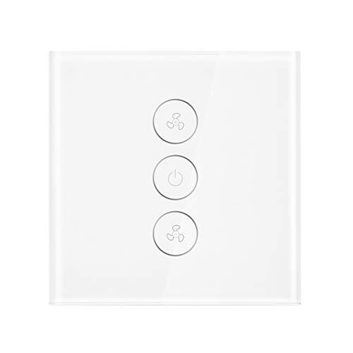 Sunsbell WiFi Smart Deckenventilator Schalter, APP Remote Timer und Geschwindigkeitskontrolle, kompatibel mit Alexa und Google Home (kein Hub erforderlich)