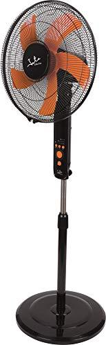 Jata VP3045 - Ventilador de pie con mando a distancia y temporizador. Tiene 3 velocidades y función noche, intermitente. Cabezal inclinable y altura regulable. Altura máxima 1,42 m